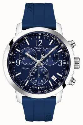 Tissot Prc 200   chronograaf   blauwe wijzerplaat   blauwe rubberen band T1144171704700