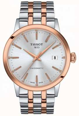 Tissot Swissmatic | zilveren wijzerplaat | tweekleurige roestvrijstalen armband T1294072203100