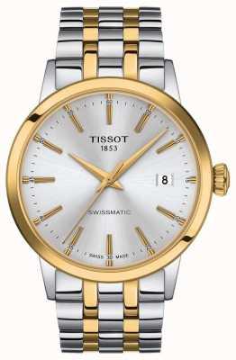 Tissot Swissmatic | zilveren wijzerplaat tweekleurige roestvrijstalen armband T1294072203101