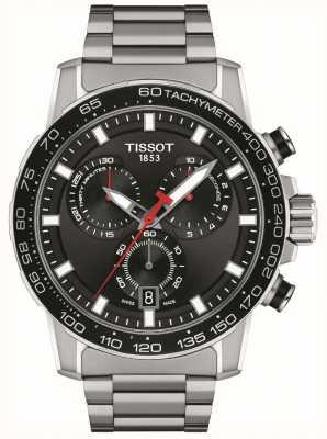 Tissot Supersport chronograaf | zwarte wijzerplaat | roestvrij stalen armband T1256171105100