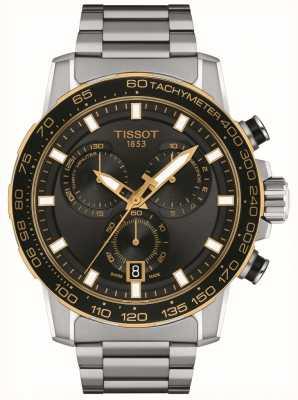 Tissot Supersport chronograaf | zwarte wijzerplaat | roestvrij stalen armband T1256172105100
