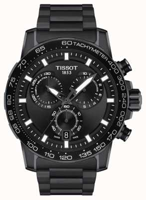 Tissot Supersport chronograaf | zwarte wijzerplaat | zwarte pvd stalen armband T1256173305100