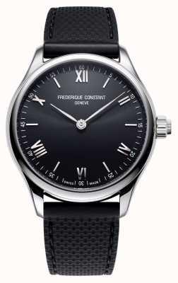 Frederique Constant Heren | vitaliteit | smartwatch | zwarte wijzerplaat | zwart rubber FC-287B5B6