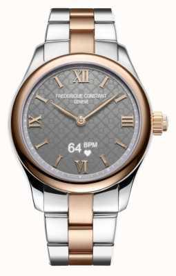 Frederique Constant Dames | vitaliteit | smartwatch | grijze wijzerplaat | twee toon FC-286BG3B2B