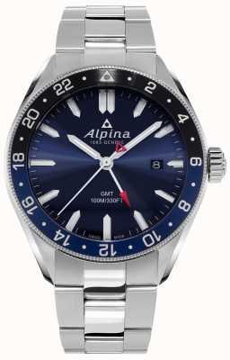 Alpina Alpiner quartz gmt | blauwe wijzerplaat | roestvrij stalen armband AL-247NB4E6B