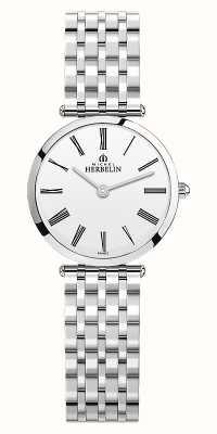 Michel Herbelin | dames | epsilon | roestvrijstalen armband | witte wijzerplaat | 17116/B01N