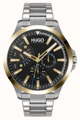 HUGO #leap casual | zwarte wijzerplaat | roestvrijstalen armband 1530174