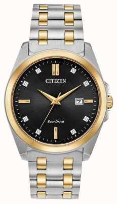 Citizen Eco-drive tweekleurig herenhorloge met corso diamanten BM7107-50E