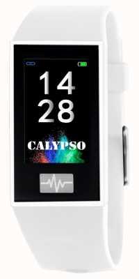 Calypso Unisex | smartime | witte siliconen band + gratis riem K8500/1