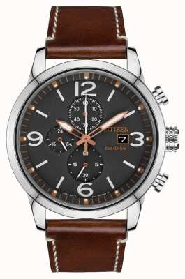 Citizen Herenhorloge eco-drive bruin lederen band CA0618-26H