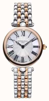 Frederique Constant Art déco voor dames | tweekleurige stalen armband | parelmoer FC-200MPW2AR2B