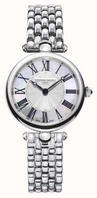 Frederique Constant Art déco voor dames | roestvrijstalen armband | parelmoer FC-200MPW2AR6B