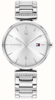 Tommy Hilfiger vrouwen | aria | roestvrijstalen zilveren armband | zilveren wijzerplaat | 1782273