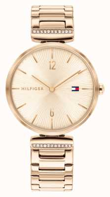 Tommy Hilfiger | vrouwen | aria | roségouden stalen armband | roségouden wijzerplaat | 1782271