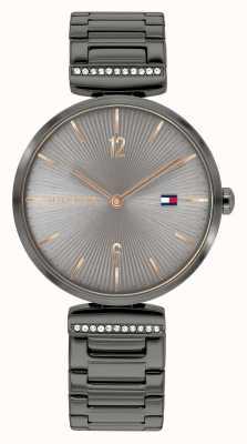 Tommy Hilfiger | vrouwen | aria | staalgrijze stalen armband | grijze wijzerplaat | 1782276