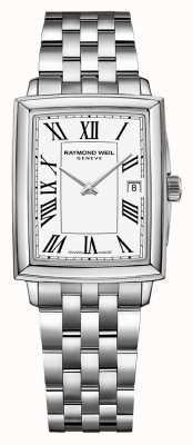 Raymond Weil Toccata voor dames | roestvrijstalen armband | witte wijzerplaat 5925-ST-00300