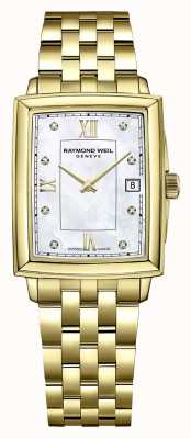 Raymond Weil Toccata voor dames | goud vergulde armband | wijzerplaat met diamant 5925-P-00995