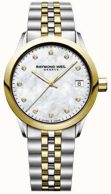 Raymond Weil Dames | freelancer | diamant | parelmoer | twee toon 5634-STP-97081