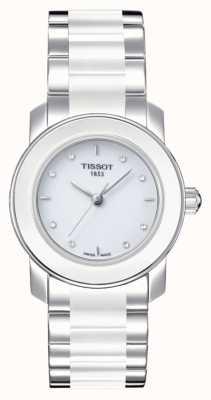 Tissot Cera dameshorloge met diamanten van 28 mm T0642102201600