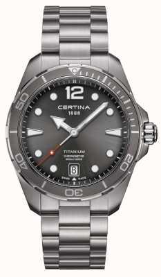 Certina DS actie | titanium armband | grijze wijzerplaat | cosc C0324514408700