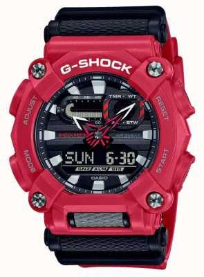 Casio G-schok | op zwaar werk berekend | wereldtijd | rode hars GA-900-4AER