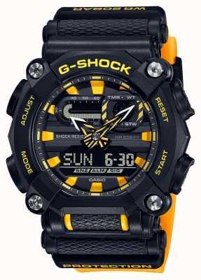 Casio G-shock | zwaar uitgevoerd | wereldtijd | geel GA-900A-1A9ER