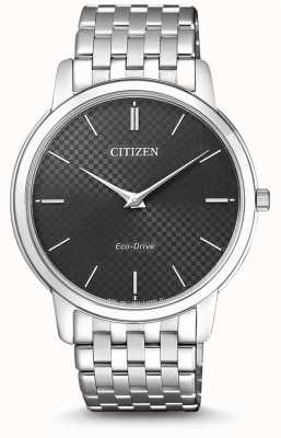 Citizen Heren stiletto ultradunne zwarte wijzerplaat AR1130-81H