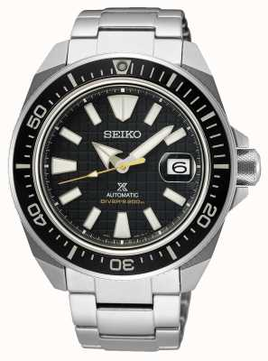 Seiko Prospex koning samurai | roestvrijstalen armband | zwarte wijzerplaat SRPE35K1