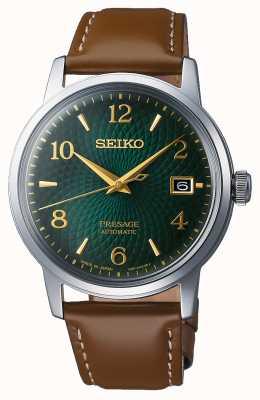 Seiko Voorwoord | automatisch | groene wijzerplaat | mojito | datum | gouden SRPE45J1