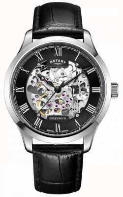 Rotary Heren | skelet | Greenwich | automatisch horloge GS02940/30