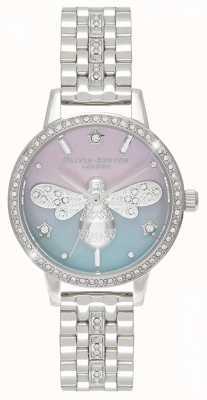Olivia Burton Sparkle Bee voor dames | roestvrijstalen armband | kristallen set OB16GB05