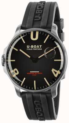 U-Boat Darkmoon 44 mm rubberen band van roestvrij staal 8463