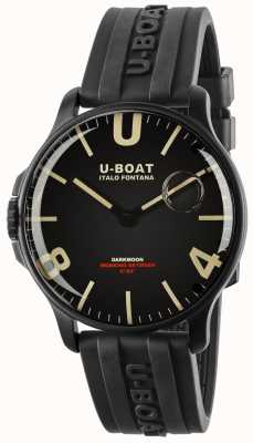 U-Boat Darkmoon 44mm zwart ipb | rubberen band 8464-BLACK