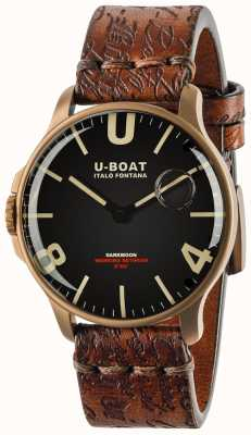 U-Boat Darkmoon 44mm zwart ip brons | lederen band 8467-BRONZE