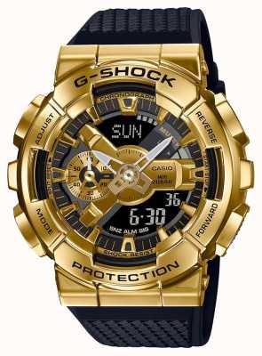 Casio G-schok | band van getextureerd hars | gouden metalen behuizing | GM-110G-1A9ER