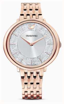 Swarovski Kristallijn | rosé vergulde stalen armband | glitter wijzerplaat 5544590