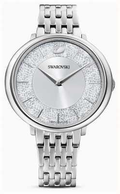Swarovski Kristallijn | roestvrijstalen armband | zilveren glitter wijzerplaat 5544583
