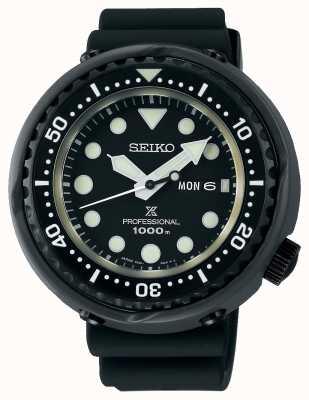 Seiko Prospex tonijnduikers voor heren | zwarte siliconen band | titanium S23631J1