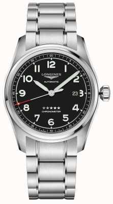 Longines Spirit 42 mm prestige-editie roestvrijstalen zwarte wijzerplaat L38114539