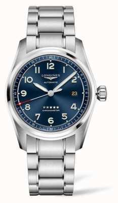 Longines Spirit prestige edition blauwe wijzerplaat roestvrij staal 40 mm L38104939