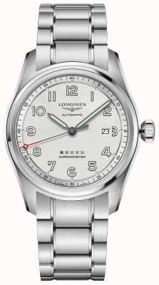 Longines Spirit prestige editie 42 mm roestvrijstalen zilveren wijzerplaat L38114739