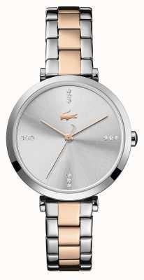 Lacoste | vrouwen | Genève | tweekleurige stalen armband | zilver / witte wijzerplaat | 2001143