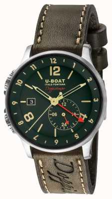 U-Boat 1938 doppiotempo dubbele tijd groene wijzerplaat 8500