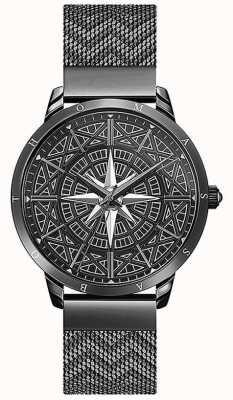 Thomas Sabo | heren | geest | zwarte mesh armband | 3D-kompaswijzerplaat | WA0374-202-203-42