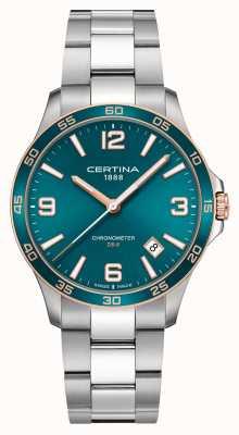 Certina Ds-8 | roestvrijstalen armband | groene wijzerplaat | kwarts C0338512109700