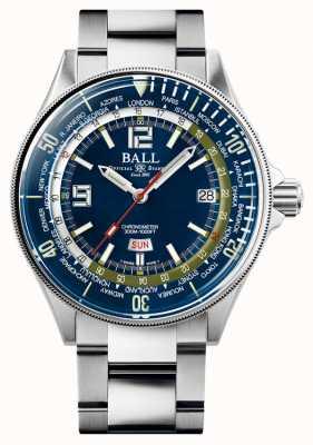 Ball Watch Company Ingenieur meester II duiker wereldtijd | blauwe wijzerplaat | 42 mm DG2232A-SC-BE