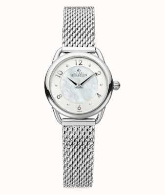 Michel Herbelin Equinoxe | stalen mesh-armband voor dames | parelmoer wijzerplaat 17497/29B