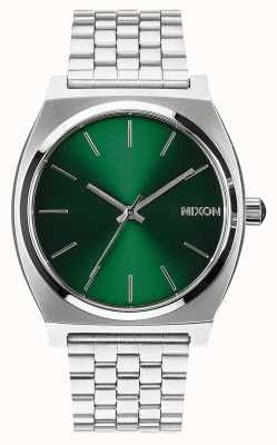 Nixon Tijd teller | groene zonnestraal | roestvrijstalen armband | groene wijzerplaat A045-1696-00