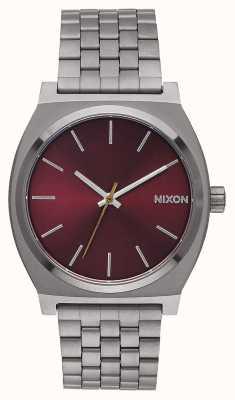 Nixon Tijd teller | brons / diep bordeaux | metalen ip-armband | bordeauxrode wijzerplaat A045-2073-00