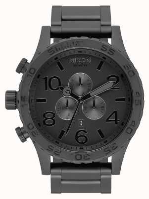 Nixon 51-30 chrono | geheel mat zwart / zwart | zwarte ip-armband | zwarte wijzerplaat A083-3086-00